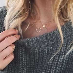 Simplicity is Key - Gold Hoop Minimalist Necklace